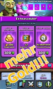 viel Gold in Clash Royale bekommen