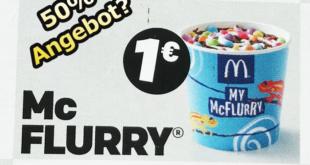 McFlurry für 1€ bekommen